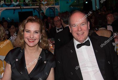 Prince Albert II of Monaco and Carole Bouquet