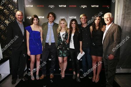 Edward Menicheschi, Natalie Marciano, Laren Poole, Kristen Bell, Rachel Bilson, Jason Russell, Caroline Marciano and Maurice Marciano