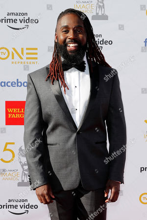 US musical artist Mykal Kilgore poses for the photographers upon his arrival for the 50th NAACP Image Awards at the Dolby Theatre in Hollywood, California, USA, 30 March 2019 (issued 31 March 2019). The NAACP Image awards honor excellence in television, recording and motion picture categories.