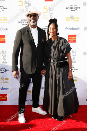 Isaiah Washington (L) and Jenisa Garland pose for the photographers upon their arrival for the 50th NAACP Image Awards at the Dolby Theatre in Hollywood, California, USA, 30 March 2019 (issued 31 March 2019). The NAACP Image awards honor excellence in television, recording and motion picture categories.