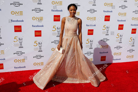 Karimah Westbrook poses for the photographers upon arrival for the 50th NAACP Image Awards at the Dolby Theatre in Hollywood, California, USA, 30 March 2019 (issued 31 March 2019). The NAACP Image awards honor excellence in television, recording and motion picture categories.