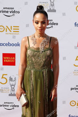 Bianca Lawson poses for the photographers upon arrival for the 50th NAACP Image Awards at the Dolby Theatre in Hollywood, California, USA, 30 March 2019 (issued 31 March 2019). The NAACP Image awards honor excellence in television, recording and motion picture categories.
