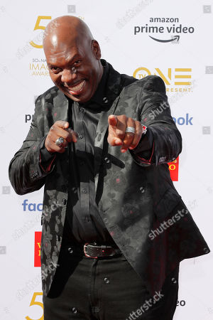 Stock Picture of Ben Tankard poses for the photographers upon arrival for the 50th NAACP Image Awards at the Dolby Theatre in Hollywood, California, USA, 30 March 2019 (issued 31 March 2019). The NAACP Image awards honor excellence in television, recording and motion picture categories.