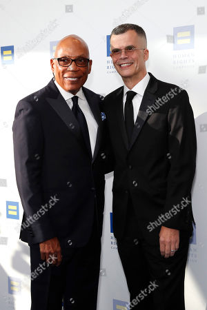 Paris Barclay and Christopher Mason attend the Human Rights Campaign 2019 Los Angeles Dinner at JW Marriott Los Angeles at L.A. LIVE in Los Angeles, California, USA, 30 March 2019 (issued 31 March 2019). The Human Rights Campaign is America's largest civil rights organization working to achieve equality for lesbian, gay, bisexual, transgender and queer people.