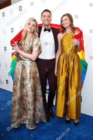 AJ Michalka (L), Raymond Braun and Aly Michalka (R) attend the Human Rights Campaign 2019 Los Angeles Dinner at JW Marriott Los Angeles at L.A. LIVE in Los Angeles, California, USA, 30 March 2019 (issued 31 March 2019). The Human Rights Campaign is America's largest civil rights organization working to achieve equality for lesbian, gay, bisexual, transgender and queer people.