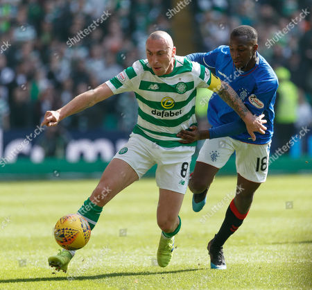 Celtic captain Scott Brown & Glen Kamara of Rangers