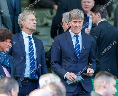 Stock Image of Former Rangers player Richard Gough in the Directors Box before kick off.