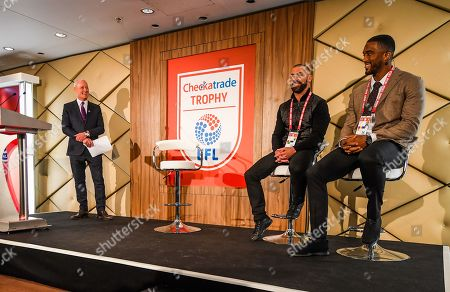 Stock Photo of Jim White Q and A with Kevin Phillips and Sylvain Distin