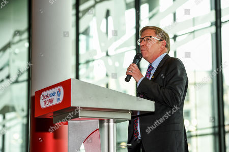 Mind CEO, Paul Farmer gives a speech in the Bobby Moore Suite