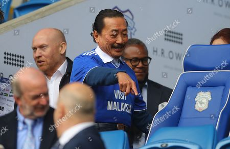 Cardiff owner Vincent Tan in the stands