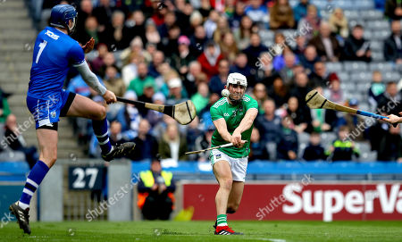 Limerick vs Waterford. Limerick's Aaron Gillane and goalkeeper Stephen O'Keeffe of Waterford