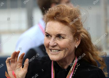 31.03.2019, Bahrain International Circuit, Sakhir, FORMULA 1 GULF AIR BAHRAIN GRAND PRIX 2019  ,  Sarah, Duchess of York, geboren als Sarah Margaret Ferguson, Spitzname ?Fergie?