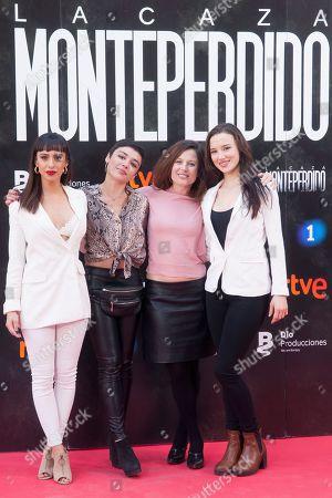 Actresses Aria Bedmar, Carla Diaz and Laura Moray Bea Segura