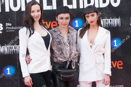 Actresses Aria Bedmar, Carla Diaz and Laura Moray