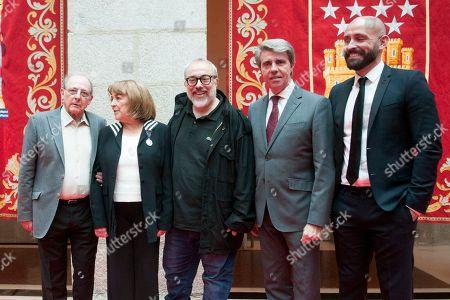 Spanish actress Carmen Maura recieves the Arts Medal of Madrid Community at CAM Headquarter in Madrid on March 19, 2019. Emilio Gutierrez caba; Alex de la Iglesia; Angel Garrido; Jaime Miguel de los santos Gonzalez