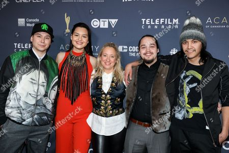 Stock Photo of Adam Tanya, Anna Lambe, Miranda de Pencier, Paul Nutarariaq