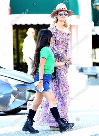 Laeticia Hallyday and daughter Jade Hallyday