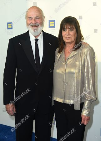 Stock Photo of Michele Singer Reiner, Rob Reiner. Michele Singer Reiner and Rob Reiner attend the 2019 Human Rights Campaign Los Angeles Dinner at the JW Marriott LA LIVE on
