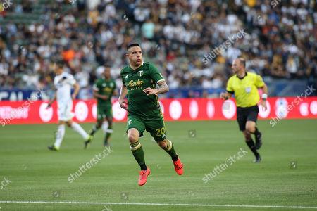 Carson, CA..Portland Timbers midfielder David Guzman (20) during the LA Galaxy vs Portland Timbers game at Dignity Health Sports Complex in Carson, Ca on , 2019. Jevone Moore