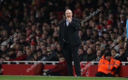 Rafael Benitez (Newcastle United manager) at the Arsenal v Newcastle United English Premier League match, at the Emirates Stadium, London, UK on April 1, 2019. **Editorial use only, license required for commercial use. No use in betting, games or a single club/league/player publications**