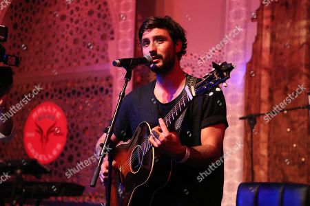 Jeremy Frerot performs on stage