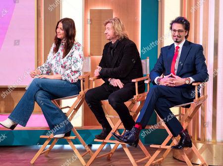 Lisa Snowdon, Nicky Clarke and Armand Beasley