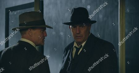 Woody Harrelson as Maney Gault and Kevin Costner as Frank Hamer