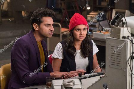 Karan Soni as Sanjay and Geraldine Viswanathan as Eliza