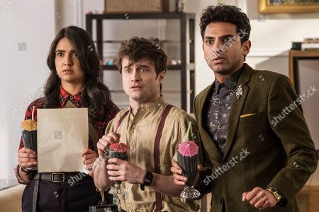 Geraldine Viswanathan as Eliza, Daniel Radcliffe as Craig and Karan Soni as Sanjay
