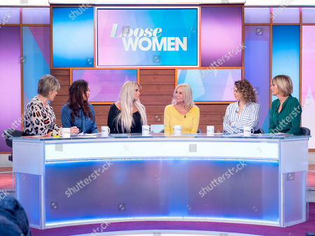 Ruth Langsford, Rebecca Ferguson, Katie Price, Amy Price, Nadia Sawalha and Jane Moore