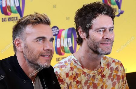 Editorial image of Members of pop band Take That visit musical THE BAND in Berlin, Germany - 01 Apr 2019