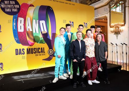 Editorial picture of Members of pop band Take That visit musical THE BAND in Berlin, Germany - 01 Apr 2019