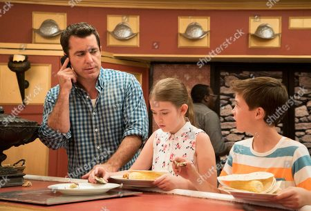 Stock Picture of Jason Jones as Nate Parker, Ashley Gerasimovich as Delilah Parker and Liam Carroll as Jared Parker