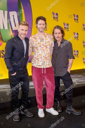 Stock Image of Gary Barlow, Howard Donald and Mark Owen