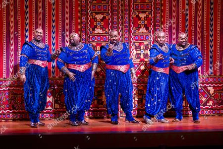 Editorial photo of Aladdin's 5th Anniversary on Broadway, New York, USA - 31 Mar 2019