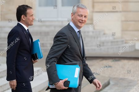 Cedric O, Junior Economy Minister in Charge of Digital and Bruno Le Maire, French Economy Minister