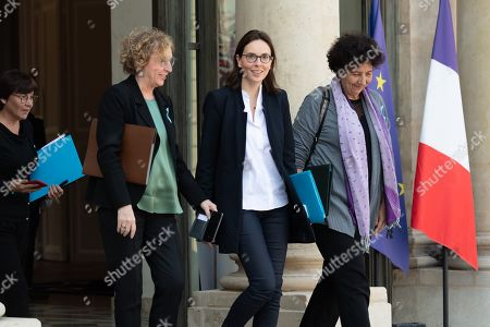 Annick Girardin, French Overseas Minister, Muriel Penicaud, French Labour Minister, Amelie de Montchalin, French Minister of European Affairs and Frederique Vidal, French High Education and Research Minister