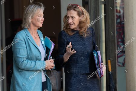 Sophie Cluzel, French Junior Minister in charge of Disabled People and Nicole Belloubet, French Justice Minister