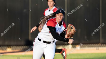 North Carolina State's Logan Morris (10) makes a throw during an NCAA softball game on in Raleigh, N.C