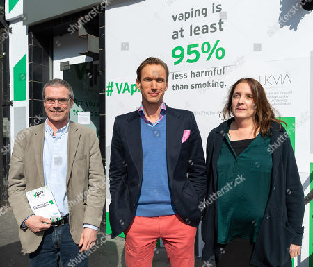Martin Cullip of NNA (New Nicotine Alliance), Dr Christian Jessen and Jessica Harding of NNA (New Nicotine Alliance)