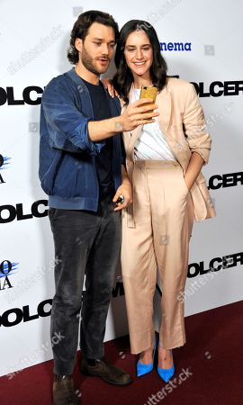 Stock Picture of Valentina Belle and Lorenzo Richelmy