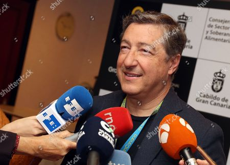 Spanish chef Joan Roca of 'Celler de Can Roca' restaurant and two-time best chef in the world award-winner, talks to media during the opening day of the International Cheese Forum in Las Palmas, Canary Islands, Spain, 01 April 2019. The event will take place from 01 to 02 April.