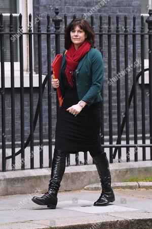 Claire Perry, Minister for Energy and Clean Growth, arrives at No.10 Downing Street