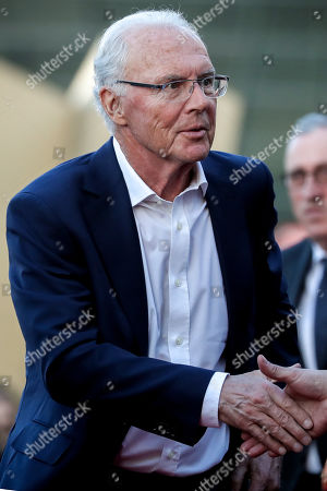 German former soccer player Franz Beckenbauer arrives for the opening gala of the 'Hall Of Fame' of German football in Dortmund, Germany, 01 April 2019. The Hall Of Fame will be part of the permanent exhibition in the German Football Museum, where players and coaches of men's and women's soccer of German origin will be honored for their outstanding achievements in shaping German soccer from 1900 until today.