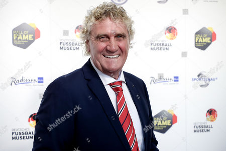 Belgian former soccer goalkeeper Jean-Marie Pfaff arrives for the opening gala of the 'Hall Of Fame' of German football in Dortmund, Germany, 01 April 2019. The Hall Of Fame will be part of the permanent exhibition in the German Football Museum, where players and coaches of men's and women's soccer of German origin will be honored for their outstanding achievements in shaping German soccer from 1900 until today.