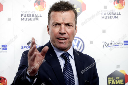 German former soccer player Lothar Matthaeus reacts as he arrives for the opening gala of the 'Hall Of Fame' of German football in Dortmund, Germany, 01 April 2019. The Hall Of Fame will be part of the permanent exhibition in the German Football Museum, where players and coaches of men's and women's soccer of German origin will be honored for their outstanding achievements in shaping German soccer from 1900 until today.
