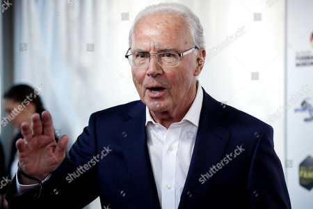 German former soccer player Franz Beckenbauer reacts as he arrives for the opening gala of the 'Hall Of Fame' of German football in Dortmund, Germany, 01 April 2019. The Hall Of Fame will be part of the permanent exhibition in the German Football Museum, where players and coaches of men's and women's soccer of German origin will be honored for their outstanding achievements in shaping German soccer from 1900 until today.