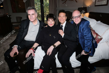 Stock Image of Neil Goetz, Liza Minnelli, Michael Feinstein, Kevin Goetz