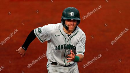 Stock Picture of Dartmouth's Sean Sullivan runs to third base during an NCAA college baseball game against Columbia, in New York