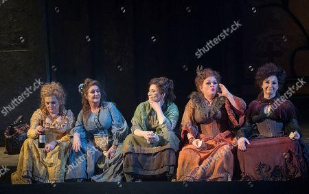Janis Kelly as Polly Nichols, Marie McLaughlin as Annie Chapman, Natalya Romaniw as Mary Kelly, Susan Bullock as Liz Stride, Lesley Garrett as Catherine Eddowes
